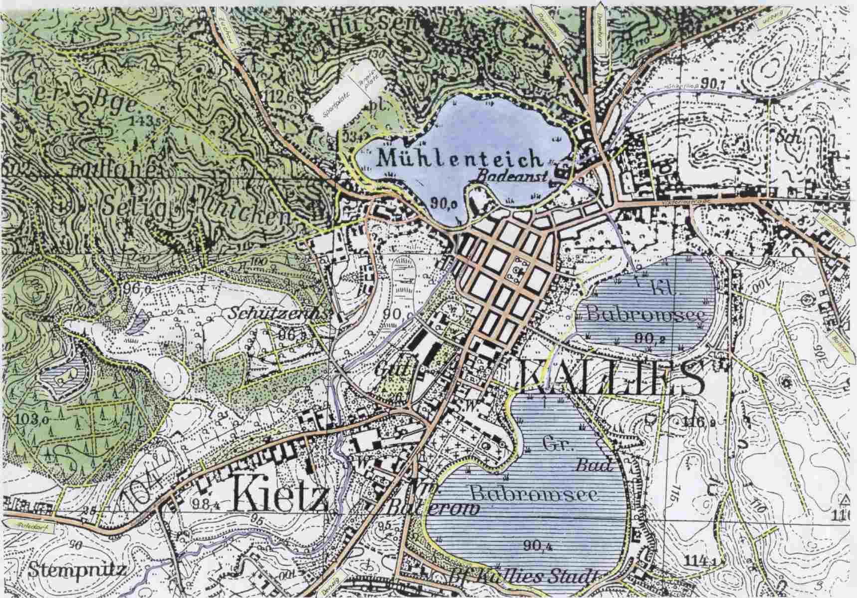 Pommern Karte Vor 1945.Stadt Kallies